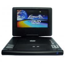 DVD Player Portátil Lenoxx Tela Giratória 7 Pol USB MP3 Controle Remoto -