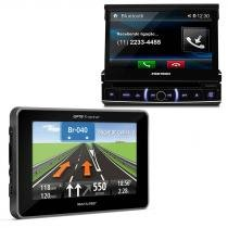 DVD Player Pósitron 7 Polegadas Touchscreen Bluetooth + GPS Multilaser 4.3 polegadas - Prime