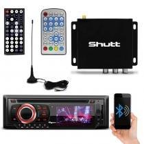 DVD Player Quatro Rodas MTC6616 3 Pol Bluetooth USB + Receptor Antena TV Digital Shutt 2 Saídas AV - Prime