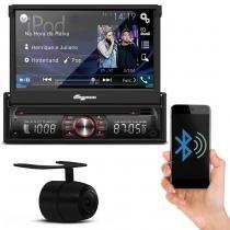DVD Player Quatro Rodas MTC6617 Bluetooth USB SD AUX + Câmera de Ré Preta Universal - Prime