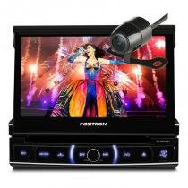 DVD Player retratil automotivo Positron 6320 com Bluetooth e camera de ré -