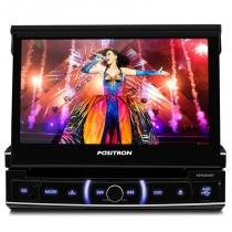 DVD Player retratil automotivo Positron 6320 com Bluetooth e controle -