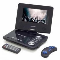 DVD Portátil Multilaser AU710 7 Polegadas Rotativa USB SD Card e Games -