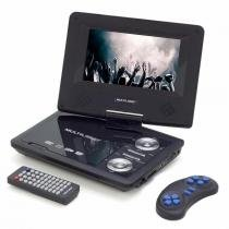DVD Portátil Multilaser AU710 7 Polegadas Rotativa USB SD Card e Games - Multilaser
