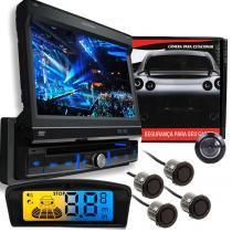 Dvd Pósitron SP6300 + Câmera + Sensor Ré 4 Sensores Preto - Positron