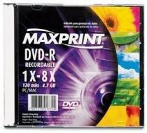 DVD-R 4.7 Gb 16x Slim - Maxprint - 1