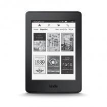 """E-Reader Amazon Kindle Paperwhite Preto com tela de 6"""" Wi-fi e 4GB de memória -"""