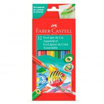 Ecolápis de cor aquarelável faber-castell - estojo com 12 cores - ref 120212 - Faber castell
