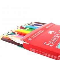 Ecolápis de cor aquarelável faber-castell - estojo com 48 cores - ref 120248 - Faber castell
