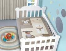 Edredom Bebê 1,16m x 0,87m  Coelho - Rozac