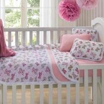 Edredom Coberta P/ Berço Bebe Mini Cama Malha Urso Rosa - Sulbrasil