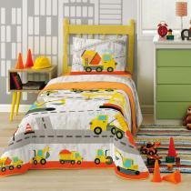 Edredom Infantil De Algodão Truck Amarelo 4668801 Lepper -