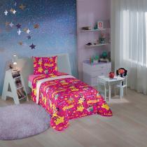 Edredom Infantil Estampado Pink Show Da Luna 4670201 Lepper - Lepper