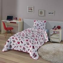 Edredom Solteiro Fashion 150 X 220 Cm Vermelho Lepper -