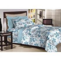 Edredon Dupla Face Queen 200 fios Top Confort Capri 1 peça Textil Lar - Têxtil Lar