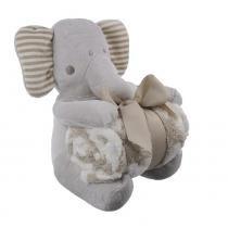 Elefante De Pelúcia Com Cobertor Para Bebê - Shiny Love