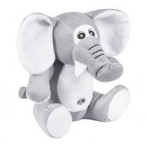 Elefante Pelúcia Importada Médio Cinza Sentado - W.U. Pelúcias