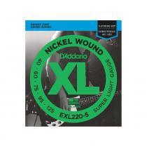 ENCORDOAMENTO PARA BAIXO DADDARIO EXL220-5 5C 012343 - DADDARIO