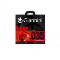 Encordoamento para baixo giannini geebrlx  035 extra leve 4c - Giannini