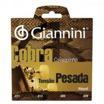 Encordoamento para cavaco gescp serie cobra aco pesada giannini - Giannini