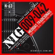 Encordoamento para Guitarra .009/.042 Tradicional N63 - NIG - NIG