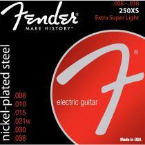 Encordoamento para Guitarra Aço 0.008 250XS Niquelado Fender - Fender