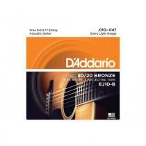 Encordoamento para violão daddario ej10 025051 - Daddario