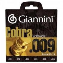Encordoamento para violao folk geewak cobra aco 0.09 giannini - Giannini