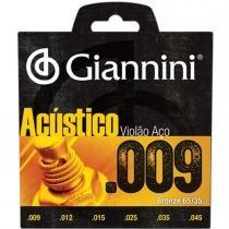 Encordoamento para Violão GESWAL Acústico Aço 0.09 - Giannini - Giannini