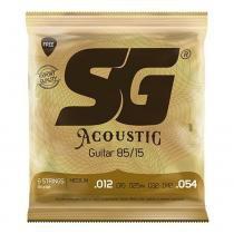 Encordoamento sg bronze 85 15 p/violão 012 aço pct com 3 (6687) - Sg