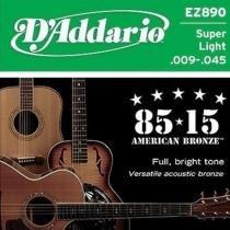 Encordoamento Violão Aço EZ890 6 Cordas Super Light - DAddario - DAddario