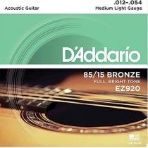 Encordoamento Violão Aço EZ920 6 Cordas Medium Light - DAddario - DAddario