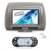 Encosto De Cabeça Cinza Monitor 7 Polegadas Leitor DVD USB SD CARD - H-tech