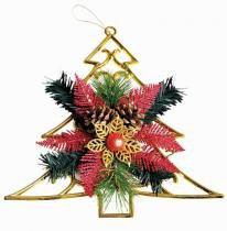 Enfeite de árvore de natal 24 cm com decoração - Yangzi