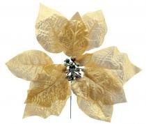 Enfeite de natal bico de papagaio pick lam 23 cm dourado - Yangzi