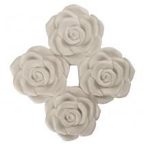 Enfeite de Parede Rosas 23x21cm - Resina - Resinas