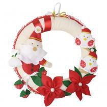 Enfeite de Porta Guirlanda Feltro Natal Papai Noel - Mais que baby