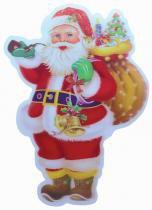 Enfeite de PVC 3D Papai Noel 54 x 35 cm com 12 - Comprenet
