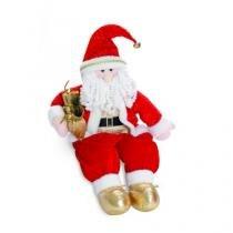 Enfeite Papai Noel com Presente Sentado  65 X 19 Cm - Cromus