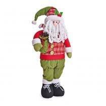 Enfeite Papai Noel em Pé com Saco de Presentes 58 X 22 Cm - Cromus