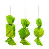 Enfeite para Arvore Bakery Balas Verde - 6 Unidades - Cromus