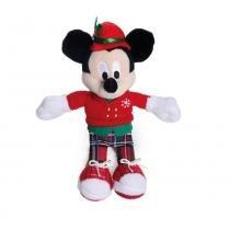 Enfeite Pelúcia Mickey Decoração Natal 15 Cm Vermelha - Cromus