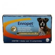 Enropet 150mg 10 comp Ceva Enrofloxacina Cães -