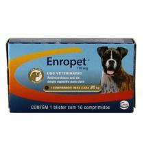 Enropet 150mg 10 comp Ceva Enrofloxacina Cães - Ceva