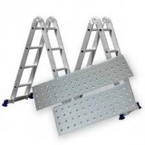 Escada 4x3 12 Degraus Multifuncional Articulada Plataforma - Mor -