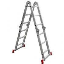 Escada Alumínio Botafogo 12 Degraus - Articulada 13 Posições 292