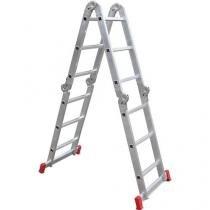 Escada Articulada 13 em 1 Botafogo - 3x4 12 Degraus - Chapelaria Botafogo