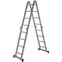 Escada Articulada Botafogo LarLazer 4 x 4 em Alumínio 16 Degraus - Chapelaria Botafogo