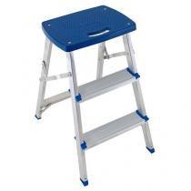 Escada banqueta alumínio - 5107 - Mor