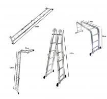 Escada  bel fix multiuso aluminio 3,40 m -